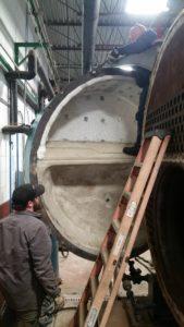 Delval Boiler Front Head Repair